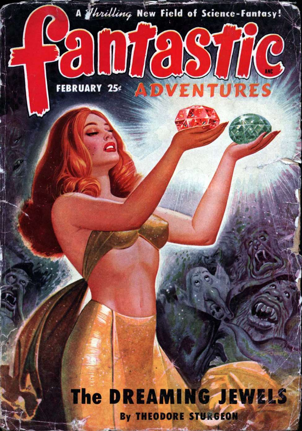 Comic Book Cover For Fantastic Adventures v12 02 - The Dreaming Jewels - Theodore Sturgeon