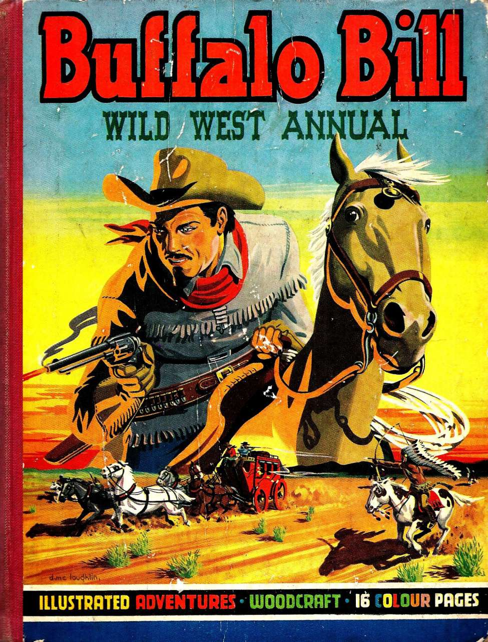 Comic Book Cover For Buffalo Bill Wild West Annual 1950