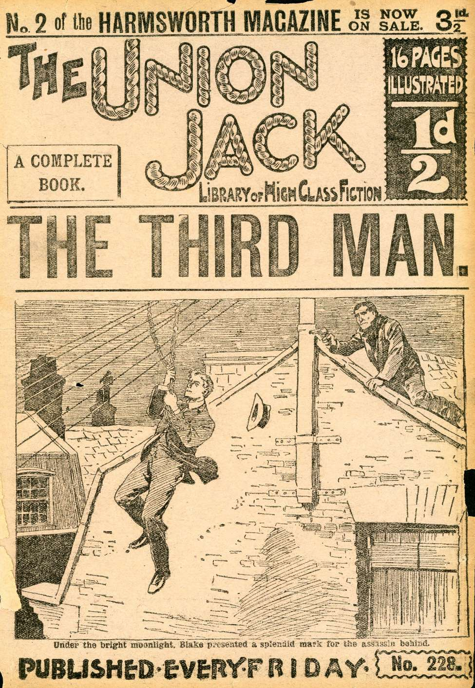 Comic Book Cover For The Union Jack 228 - The Third Man