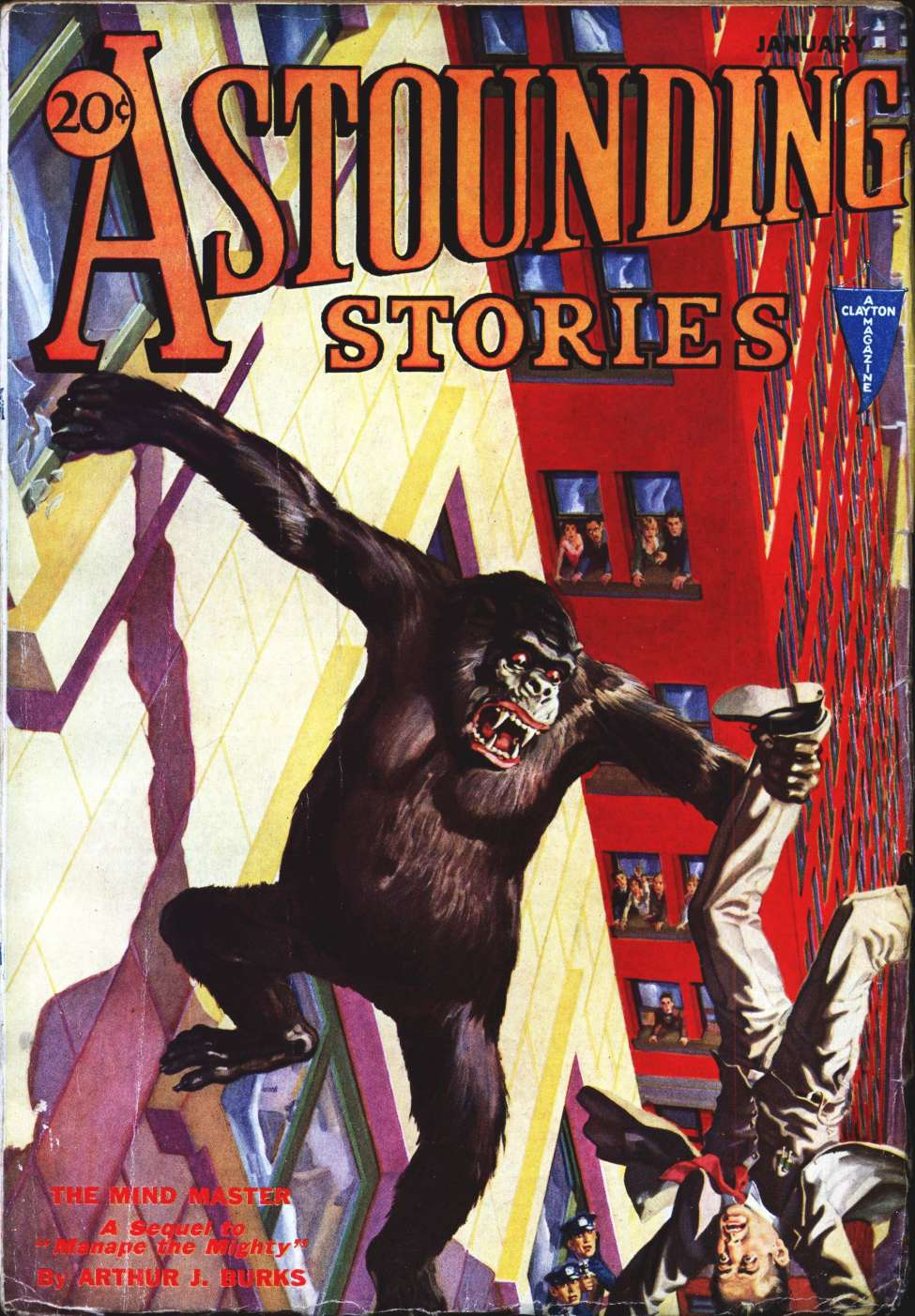 Comic Book Cover For Astounding Serial - Mind Master - A J Burks