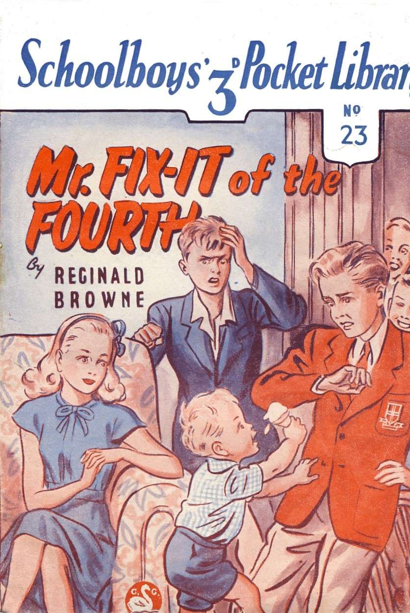 Comic Book Cover For Schoolboy Pocket Library 23 - Mr. Fix-it of the Fourth