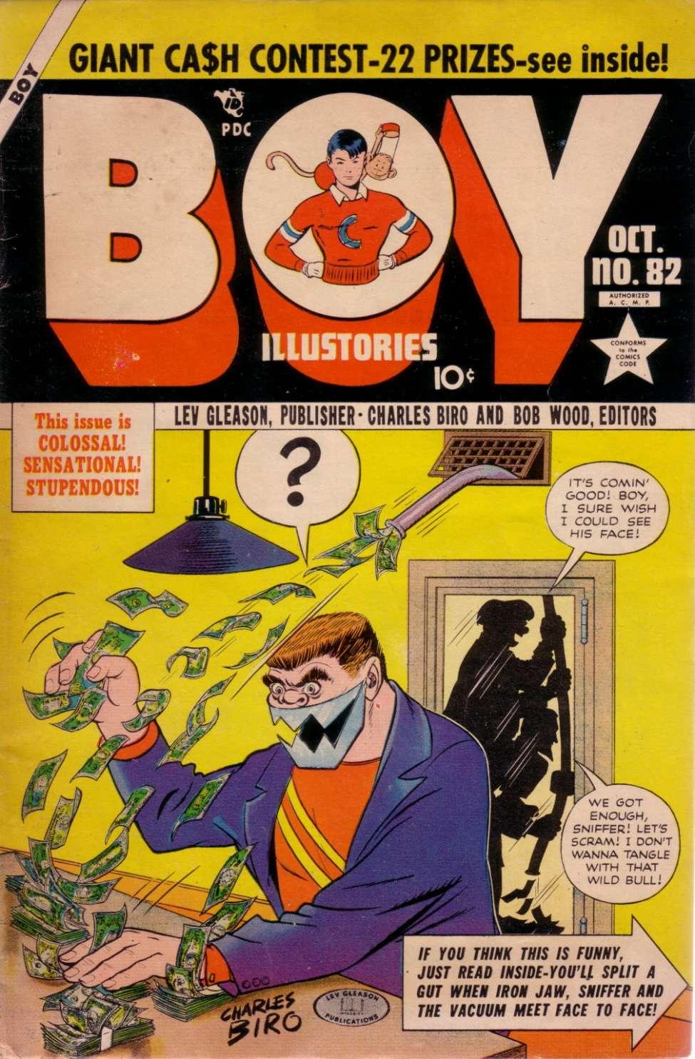 Comic Book Cover For Boy Comics #82