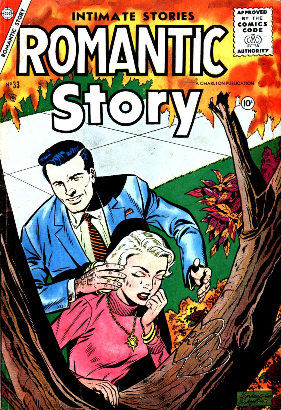 Comic Book Cover For Romantic Story #33