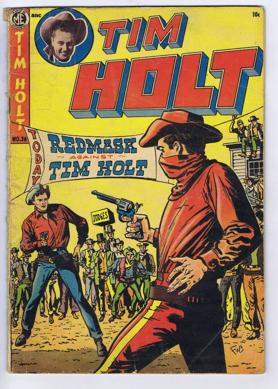 Comic Book Cover For Tim Holt #36 - Version 2