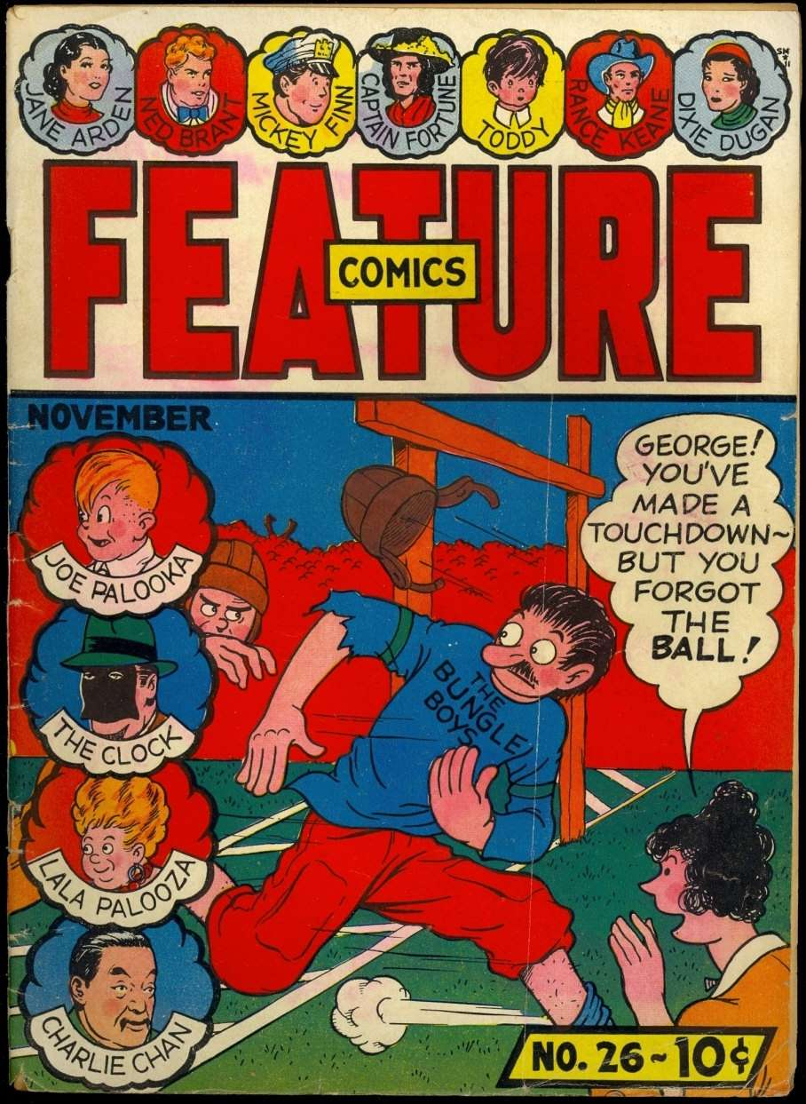 Comic Book Cover For Feature Comics #26