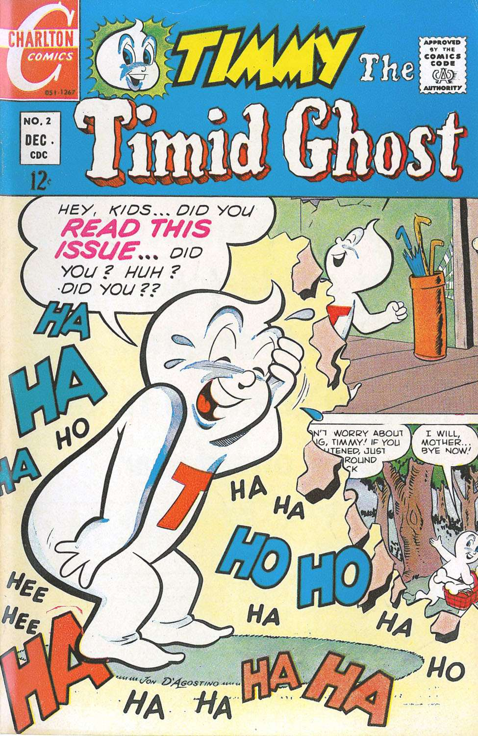 Comic Book Cover For Timmy the Timid Ghost #2
