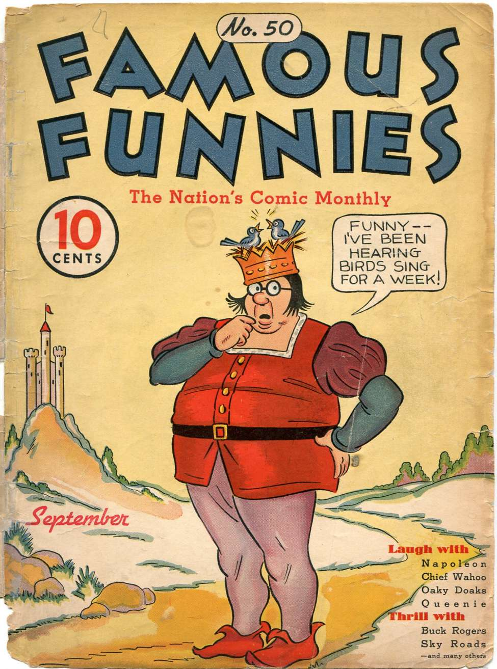 Comic Book Cover For Famous Funnies #50
