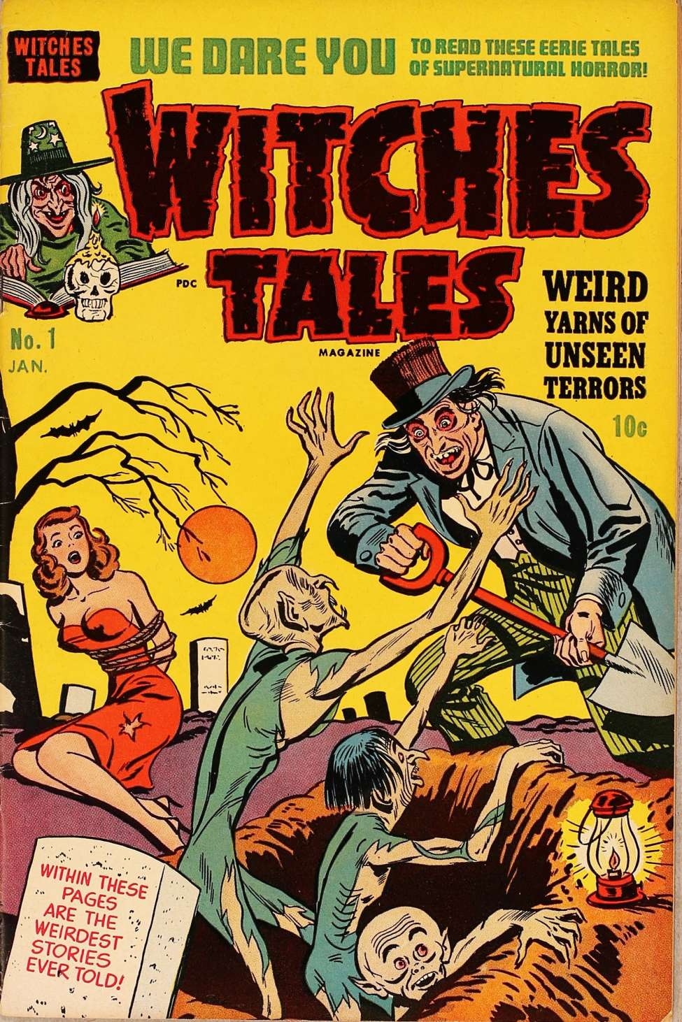 Comic Book Cover For Witches Tales #1
