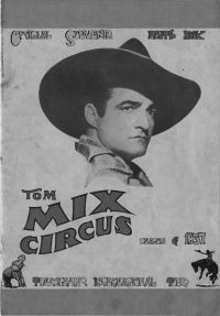 Large Thumbnail For Tom Mix Circus Souvenir Route Book - 1937