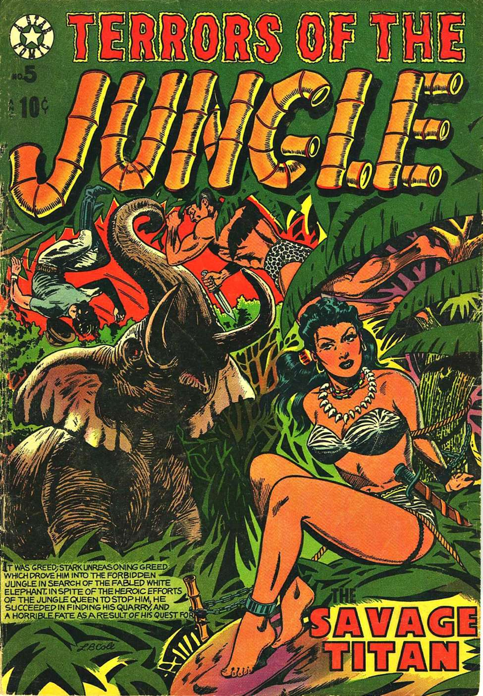 Comic Book Cover For Terrors of the Jungle #5