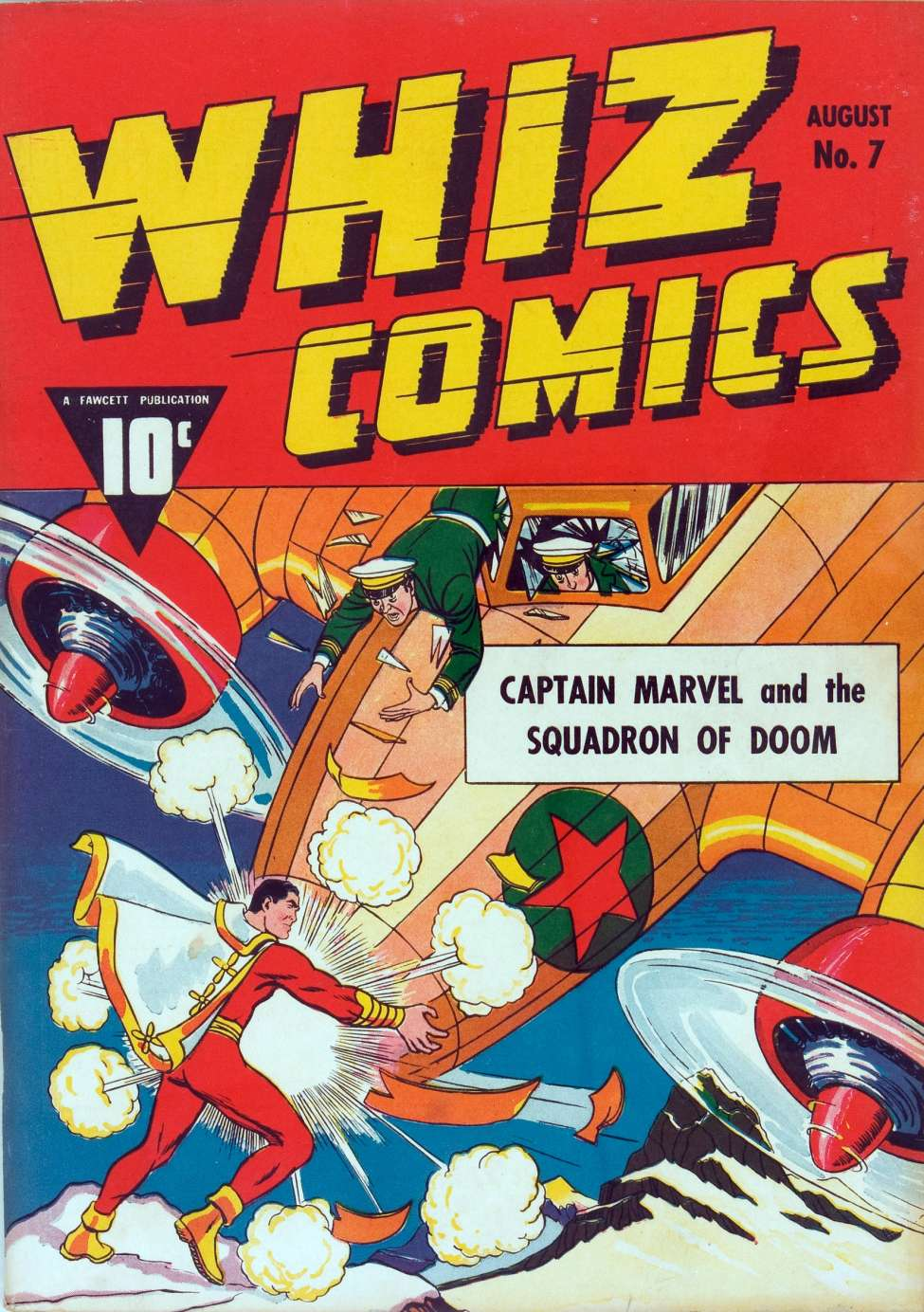 Comic Book Cover For Whiz Comics #7