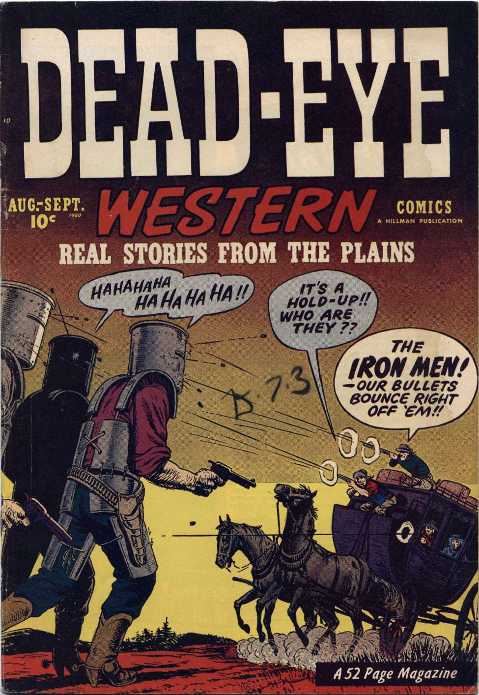 Comic Book Cover For Dead-Eye Western Comics v1 #11