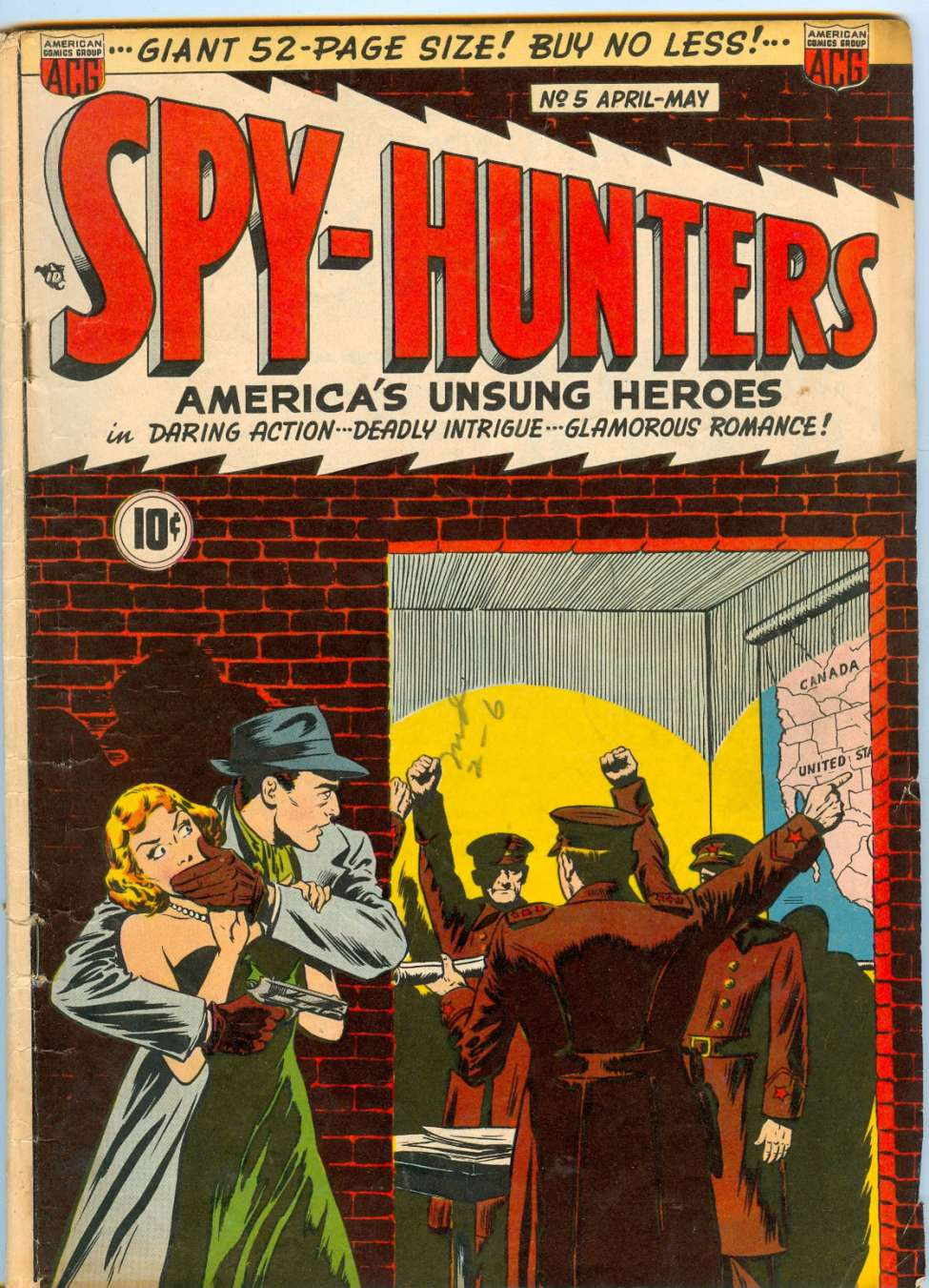 Comic Book Cover For Spy-Hunters #5