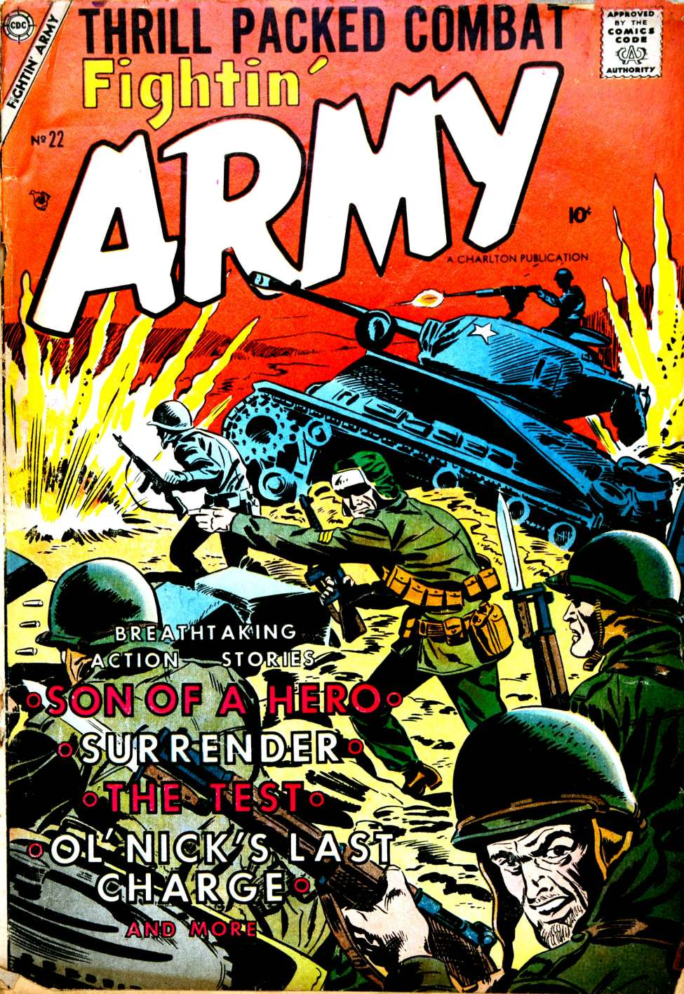 Comic Book Cover For Fightin' Army #22