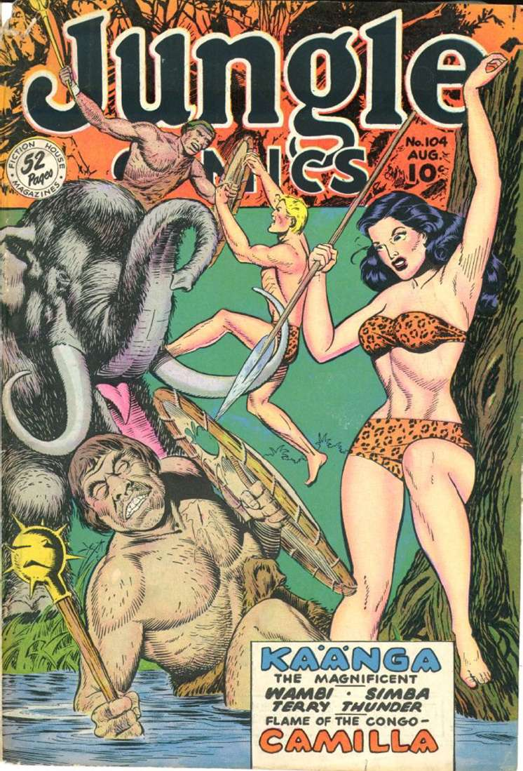 Comic Book Cover For Jungle Comics #104