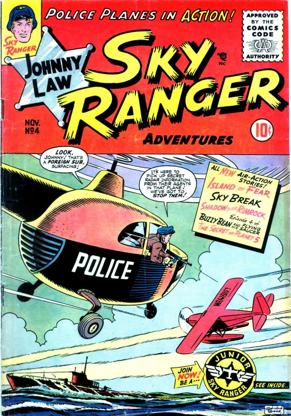 Comic Book Cover For Johnny Law, Sky Ranger #4