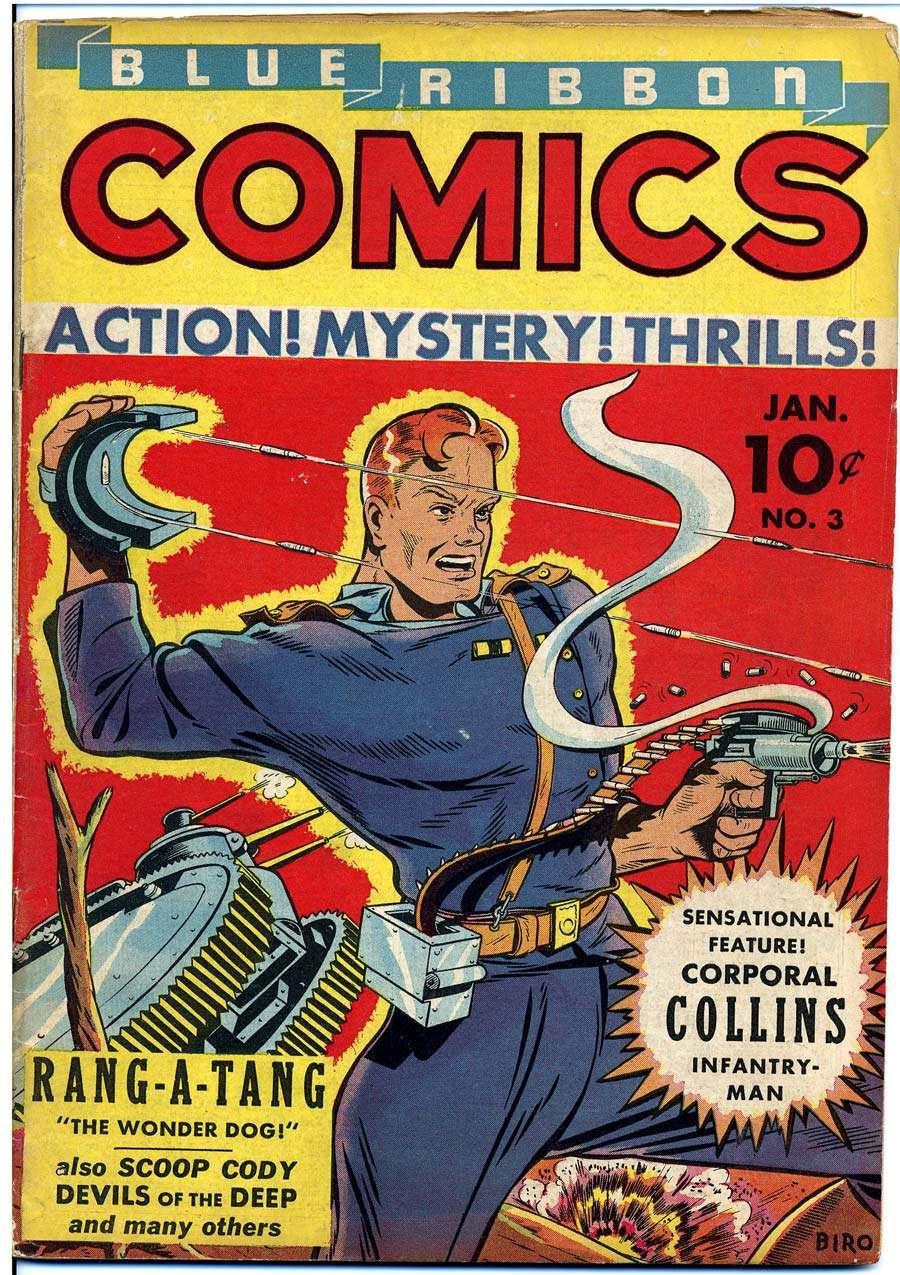 Comic Book Cover For Blue Ribbon Comics #3