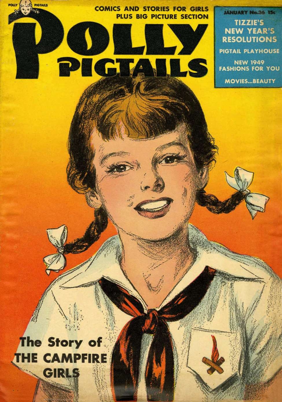 Comic Book Cover For Polly Pigtails #36