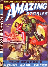 Large Thumbnail For Amazing Stories v14 10 - Raiders Out of Space - Robert Moore Williams