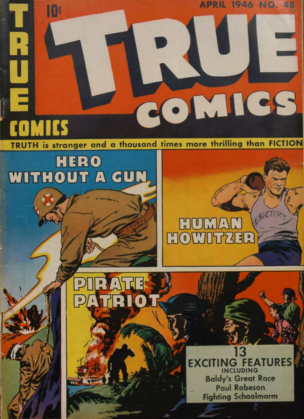 Comic Book Cover For True Comics #48