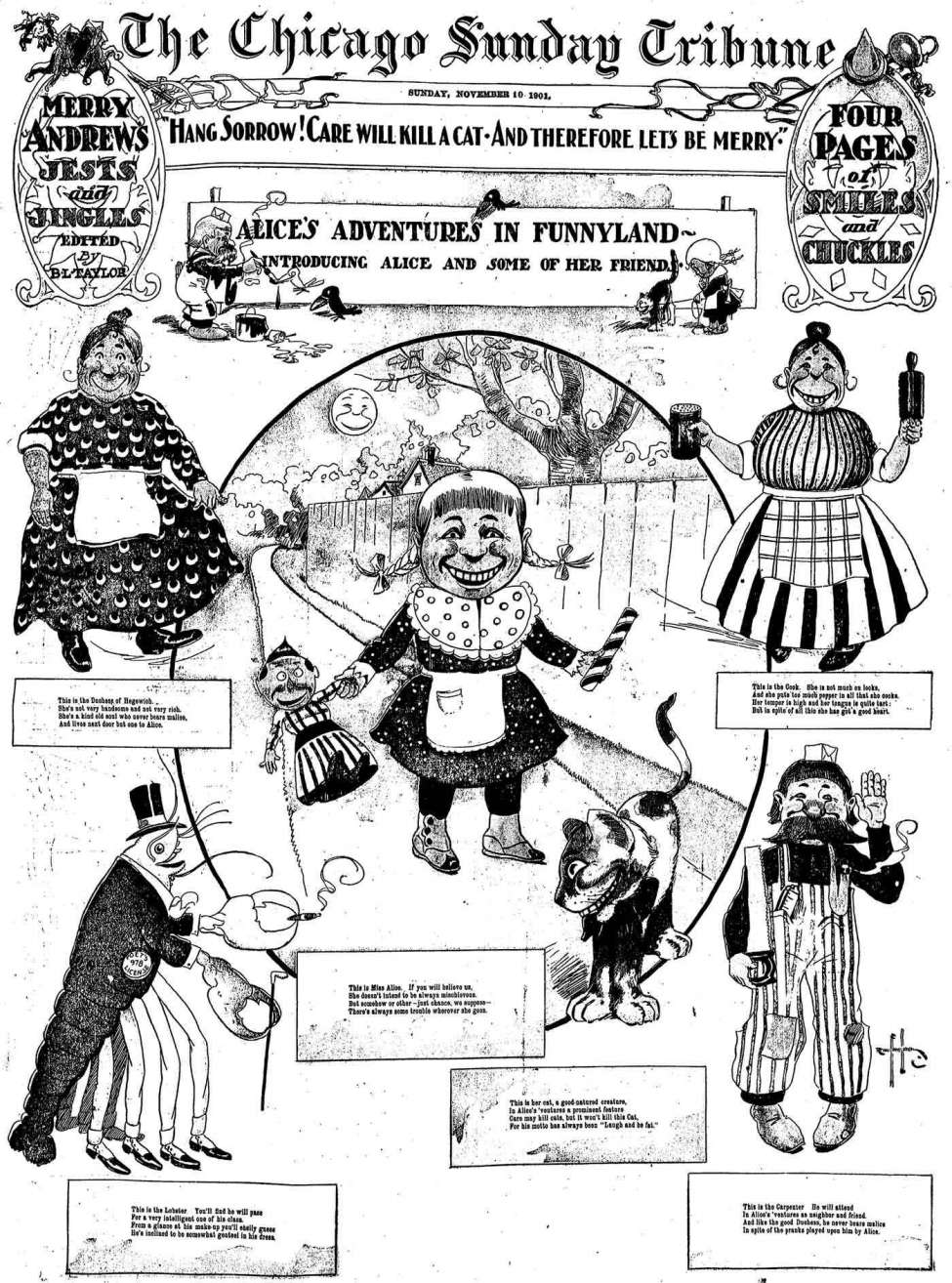 Comic Book Cover For Alice's Adventures in Funnyland