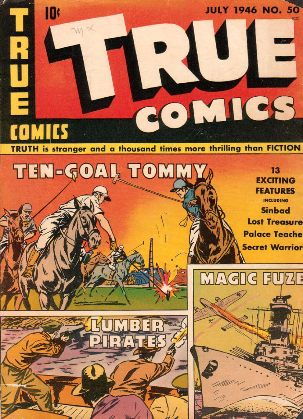 Comic Book Cover For True Comics #50