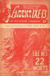 Cover For L'Agent IXE 13 v2 127 L'île des 22 morts