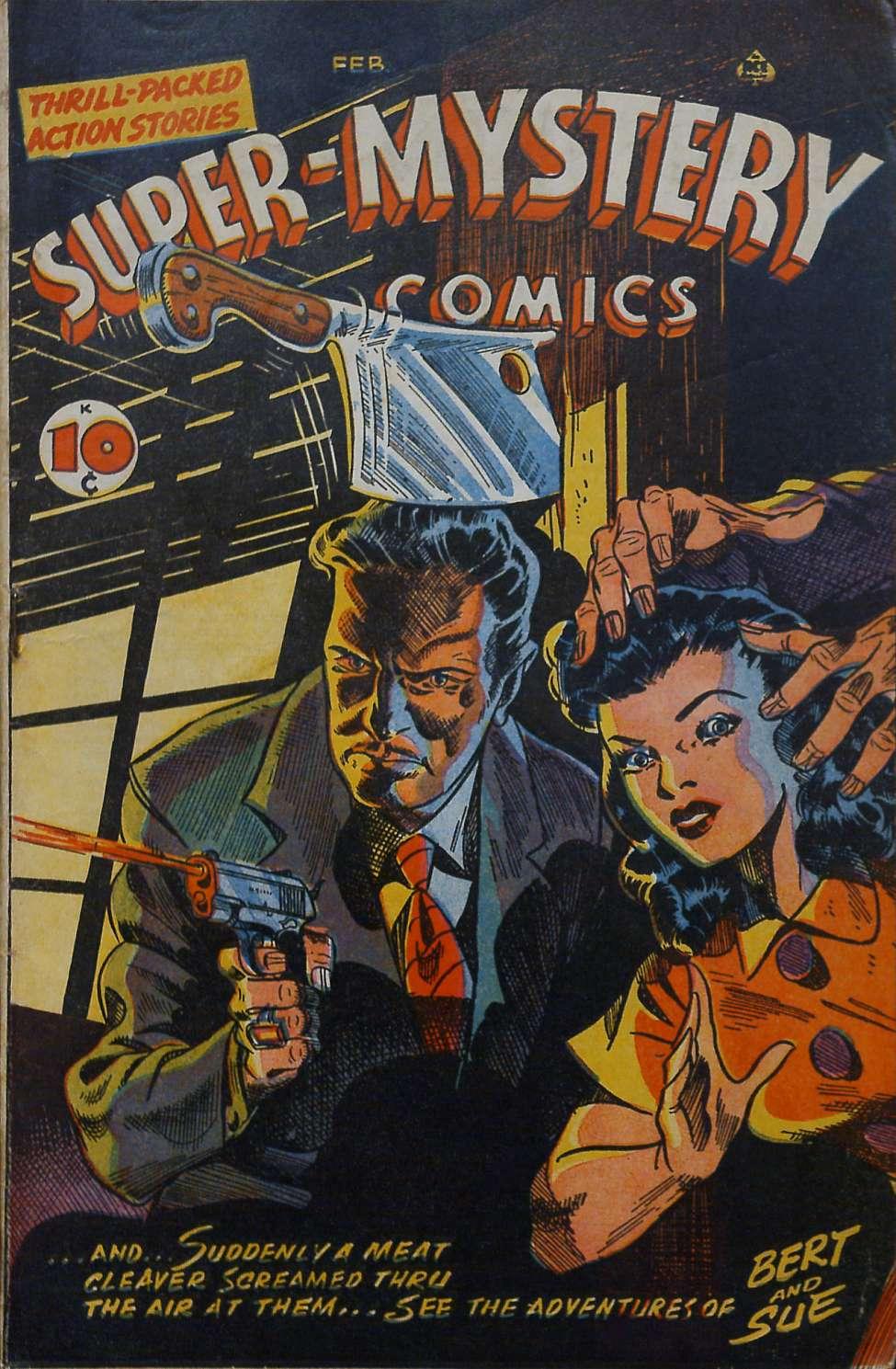 Comic Book Cover For Super-Mystery Comics v6 #4
