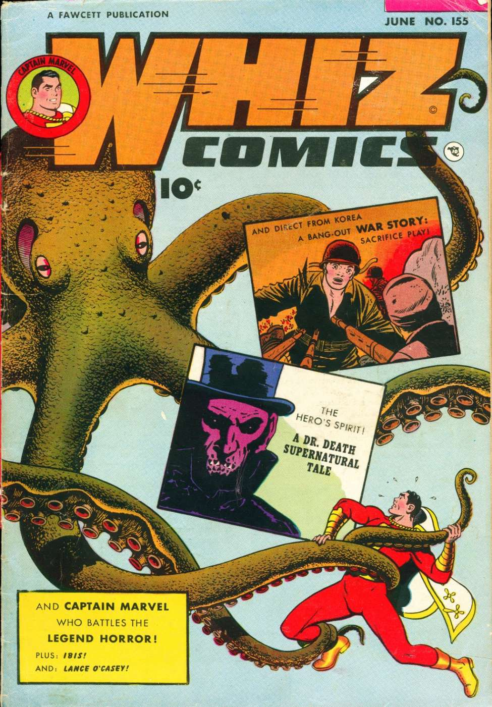 Comic Book Cover For Whiz Comics #155
