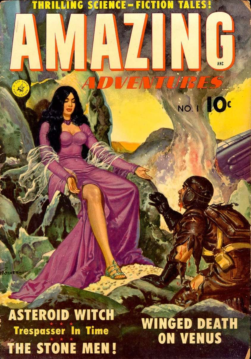Comic Book Cover For Amazing Adventures #1