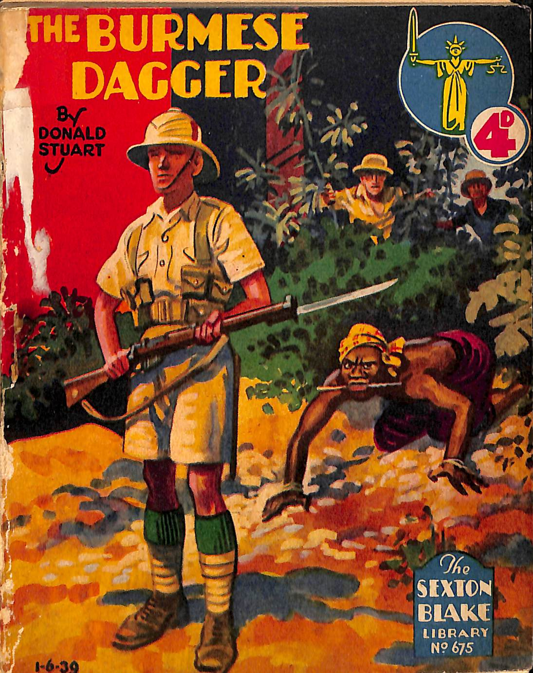 Comic Book Cover For Sexton Blake Library S2 675 - The Burmese Dagger