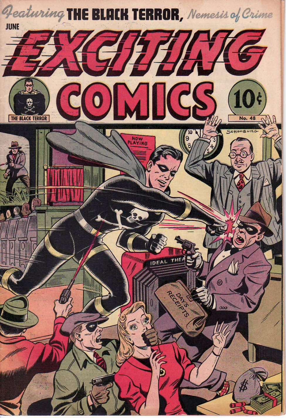 Comic Book Cover For Exciting Comics #48