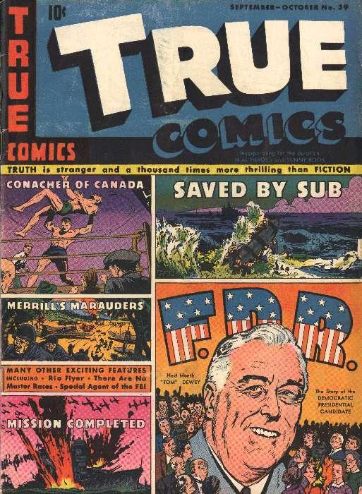 Comic Book Cover For True Comics #39