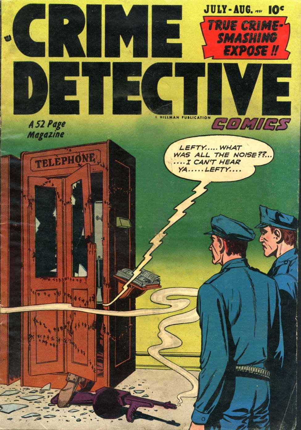 Comic Book Cover For Crime Detective Comics v2 #9