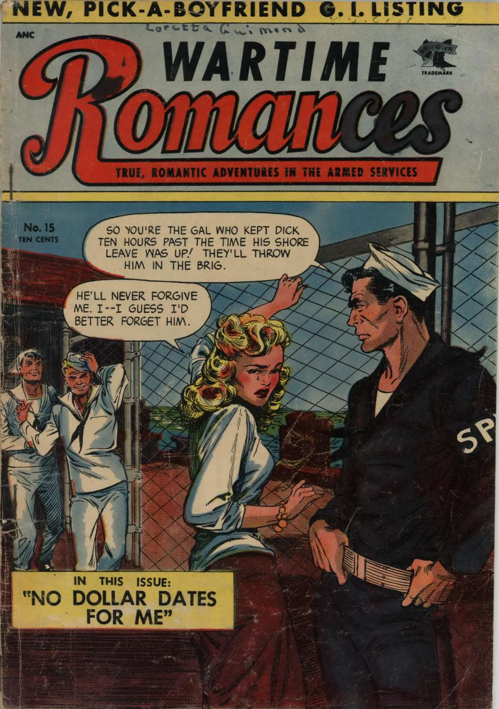 Comic Book Cover For Wartime Romances #15