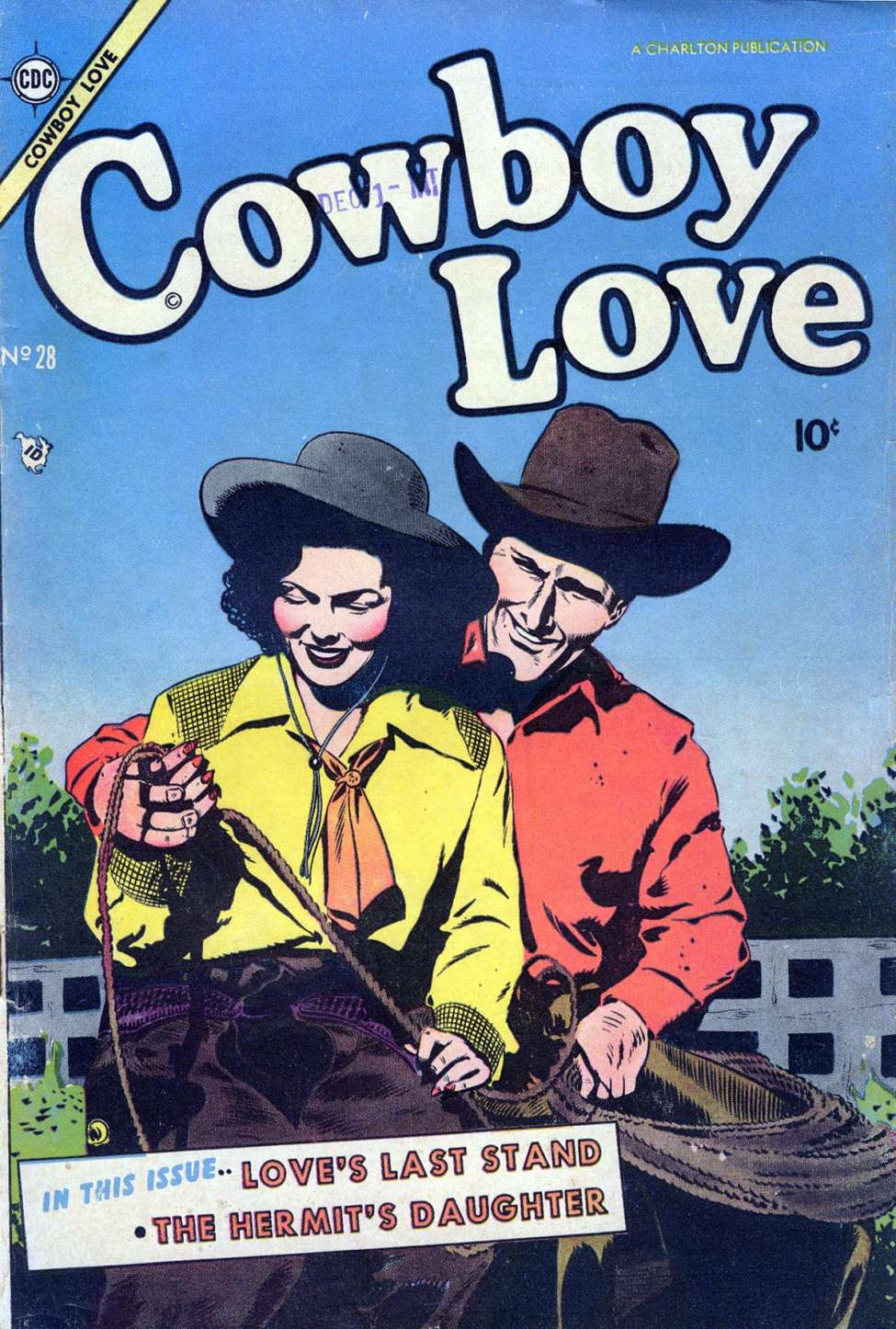Comic Book Cover For Cowboy Love #28