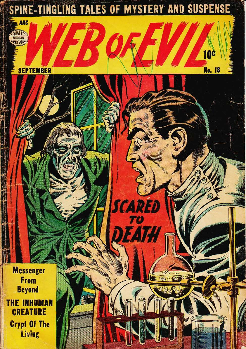 Comic Book Cover For Web of Evil #18
