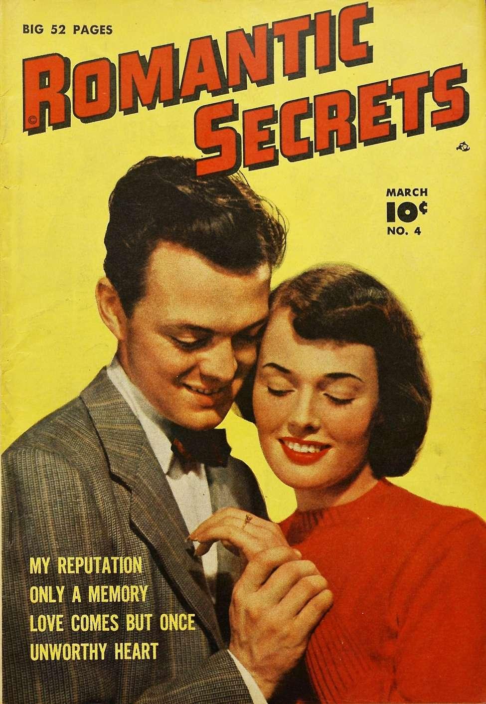 Comic Book Cover For Romantic Secrets #4