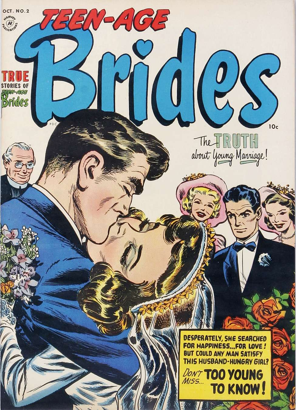 Comic Book Cover For Teen-Age Brides #2