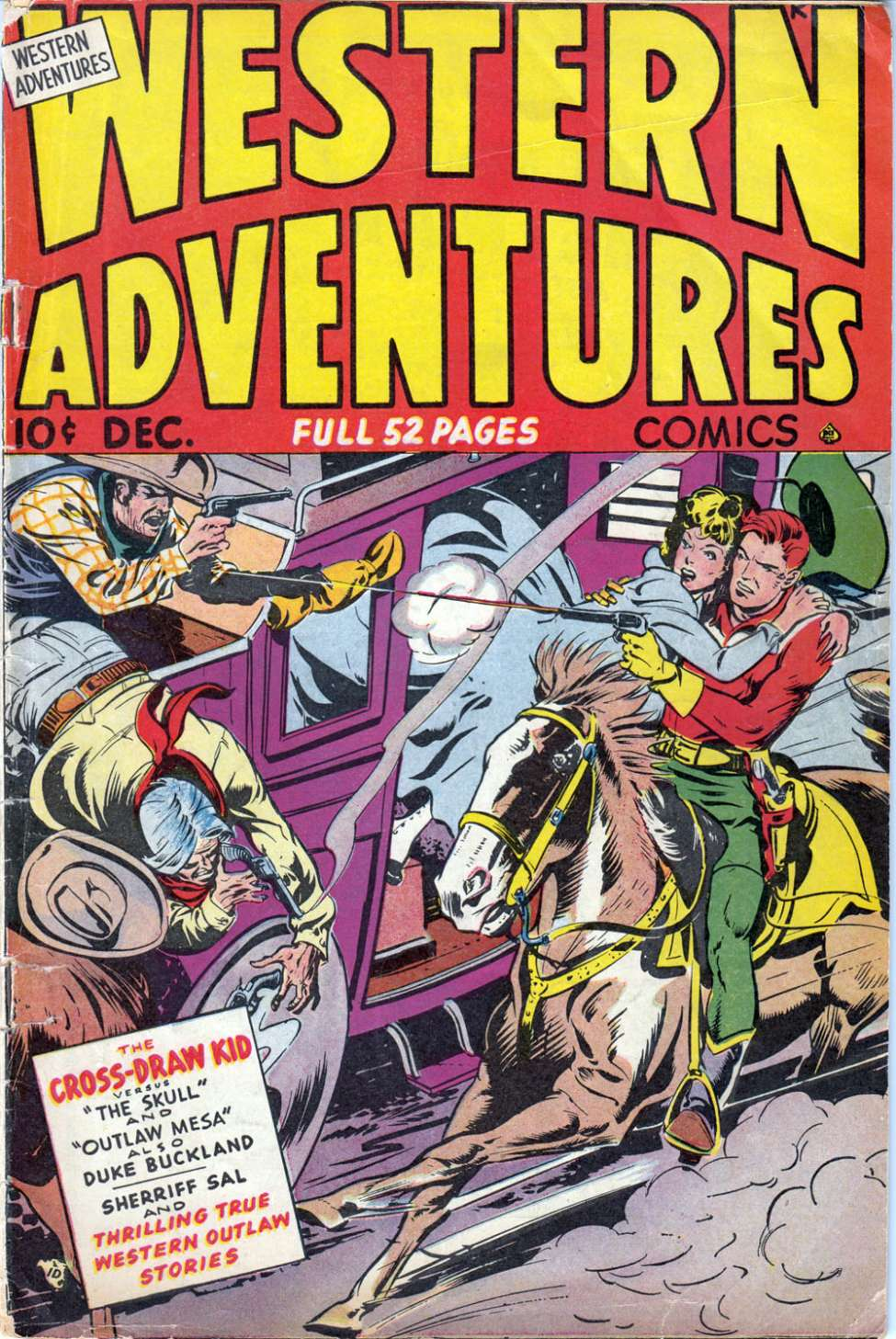 Comic Book Cover For Western Adventures [2] - Version 1