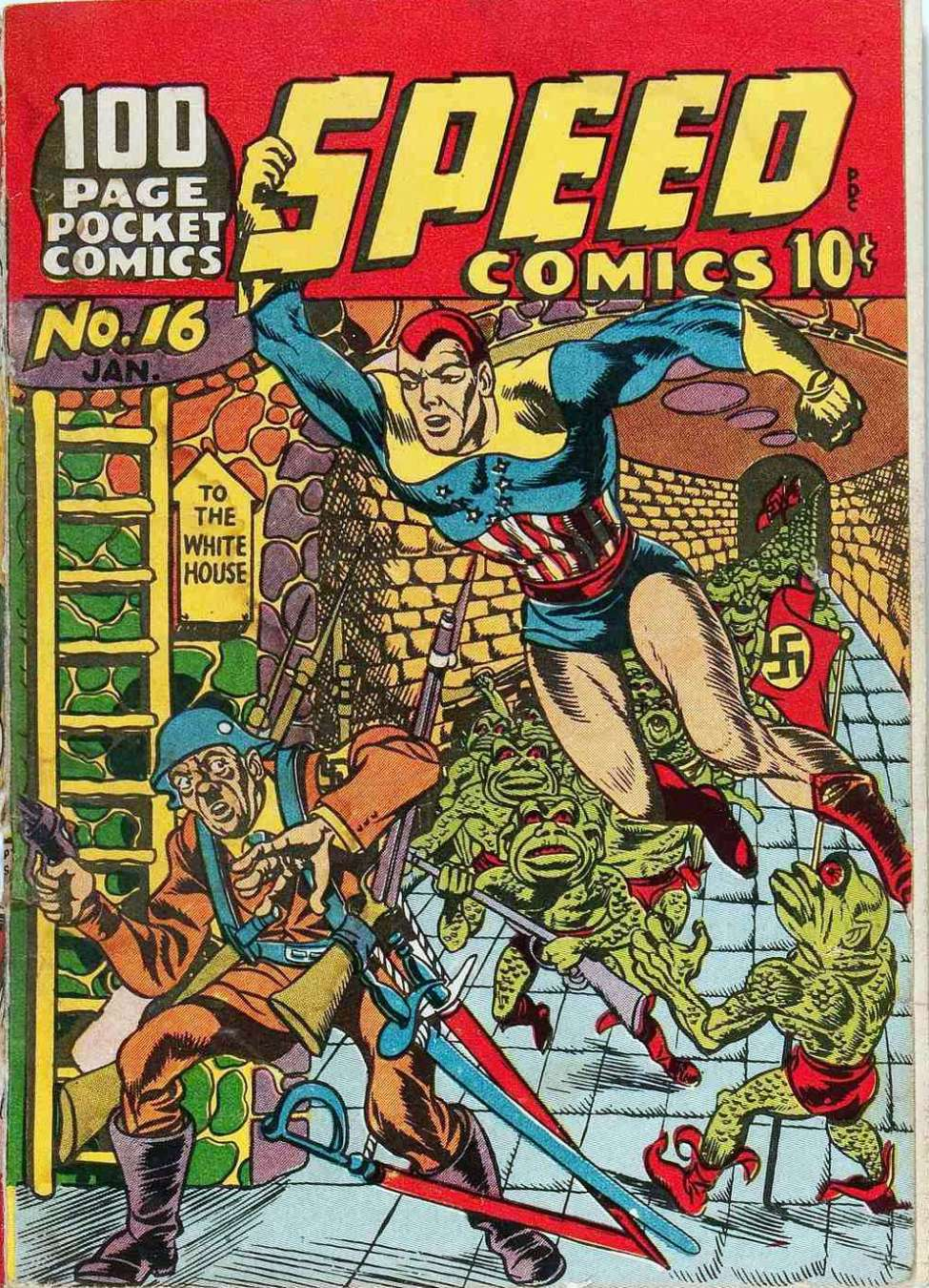 Comic Book Cover For Speed Comics #16