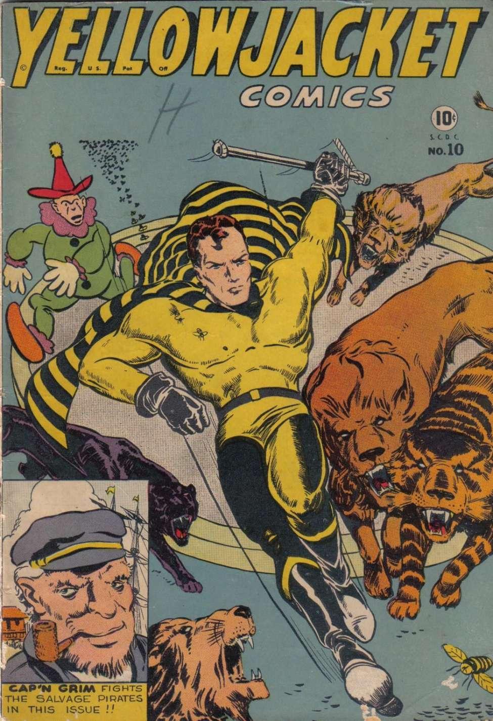 Comic Book Cover For Yellowjacket Comics #10