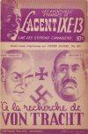 Cover For L'Agent IXE 13 v2 120 À la recherche de Von Tracht