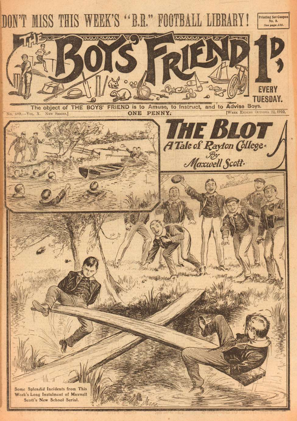 Comic Book Cover For The Boys' Friend 0489 - The Blot