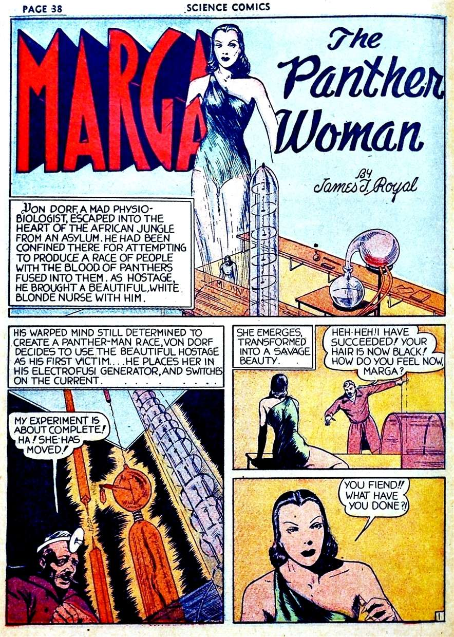 Comic Book Cover For Marga the Panther Woman Compilation Part 1