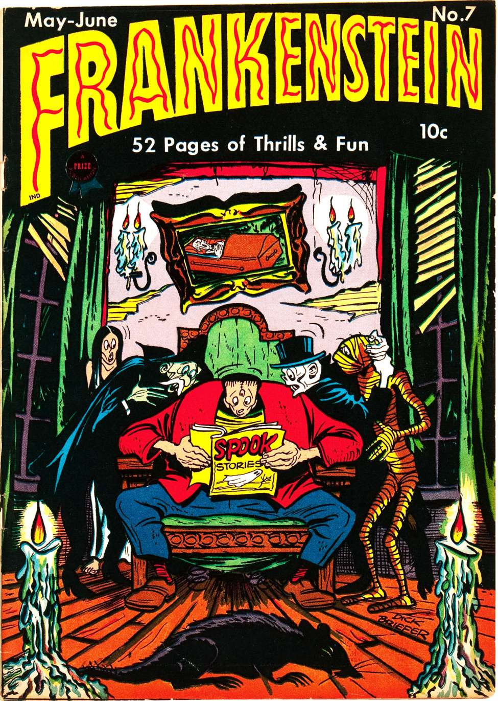 Comic Book Cover For Frankenstein #7