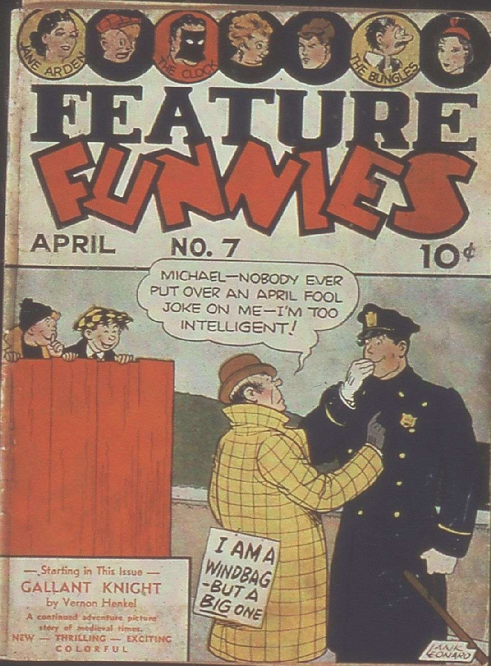 Comic Book Cover For Feature Funnies #7
