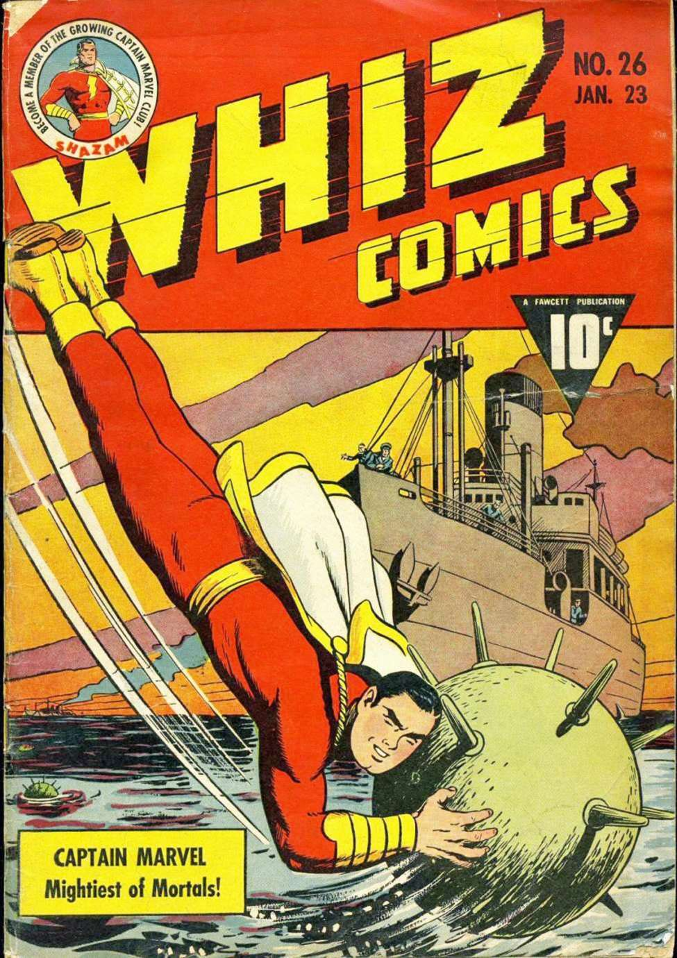 Comic Book Cover For Capt. Marvel Whiz Archives Vol 06