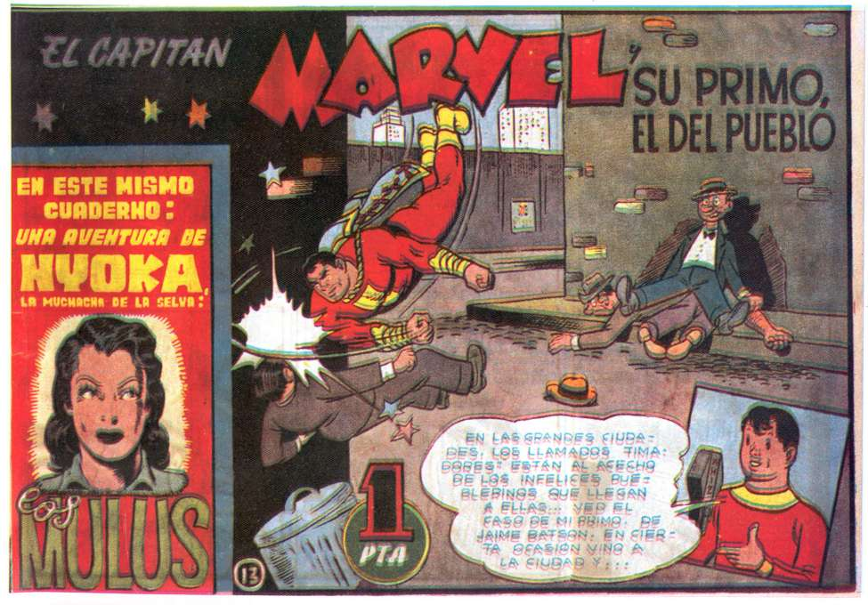 Comic Book Cover For El Capitan Marvel 13