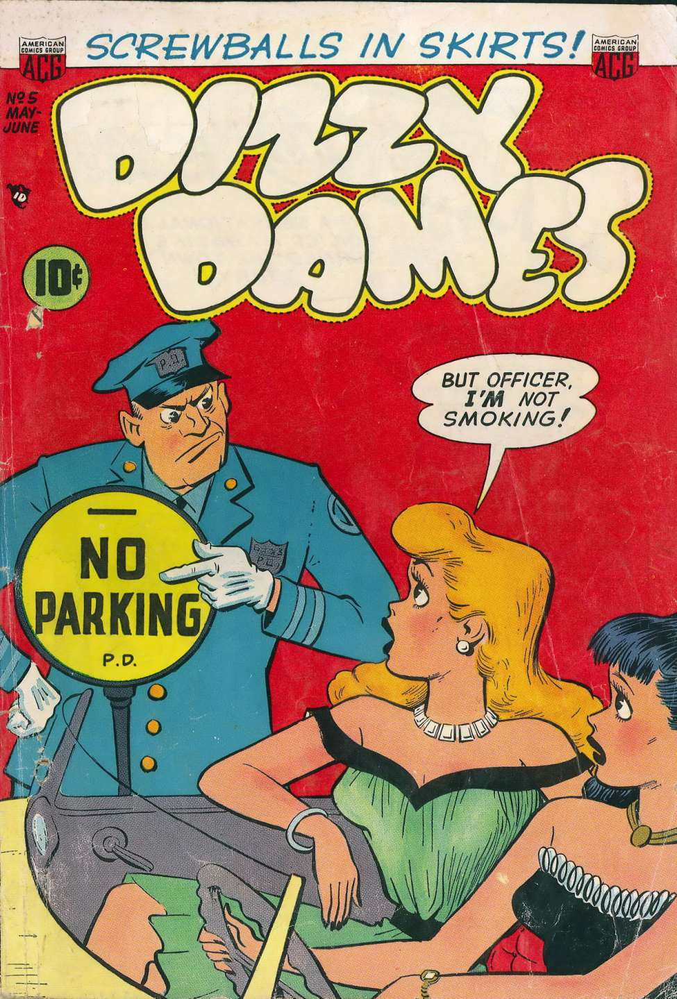 Comic Book Cover For Dizzy Dames #5